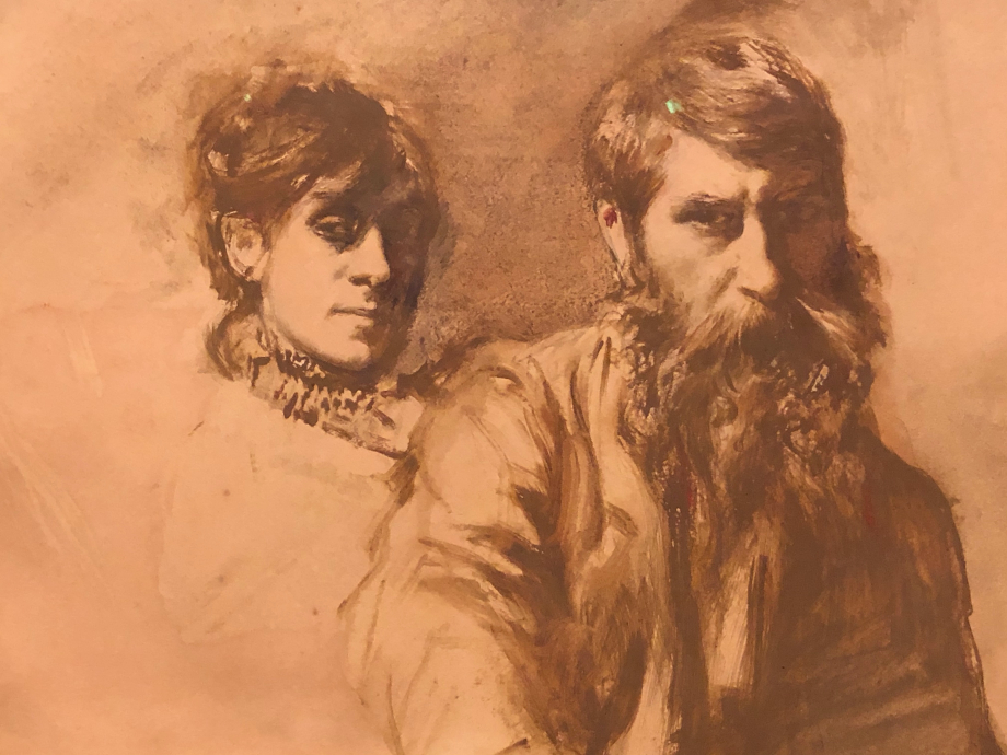 Autoportrait avec Mathide Duffaud 1881 1909