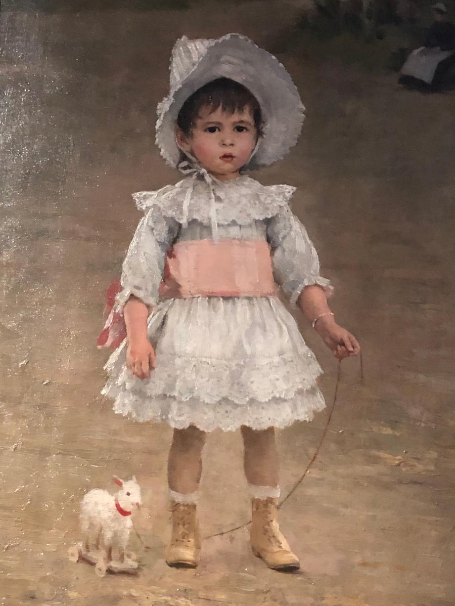 Edouard Bernard Debat-Ponsan Simone au bois de Boulogne - 1888 Tours, Musée des Beaux-Arts