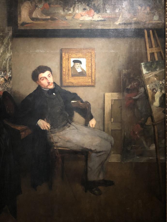 Edgar Degas Portrait de James Tissot 1867 1868 New-York, The Metropolitan Museum of Art