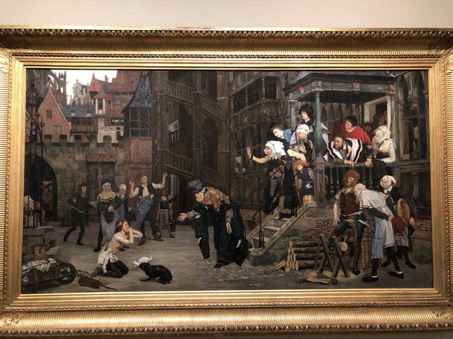 Retour de l'enfant prodigue 1862 Petit-Palais, Musée des Beaux-Arts de la ville de Paris Ce tableau représente le moment où le fils, en haillons, après avoir quitté le foyer familial et mené une vie de plaisirs et dépensé tout son bien, revient auprès de son père, qui l'accueille avec tous les égards