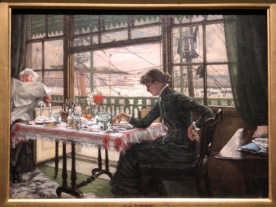 Room overlooking the harbour vers 1875 1876 Collection particulière