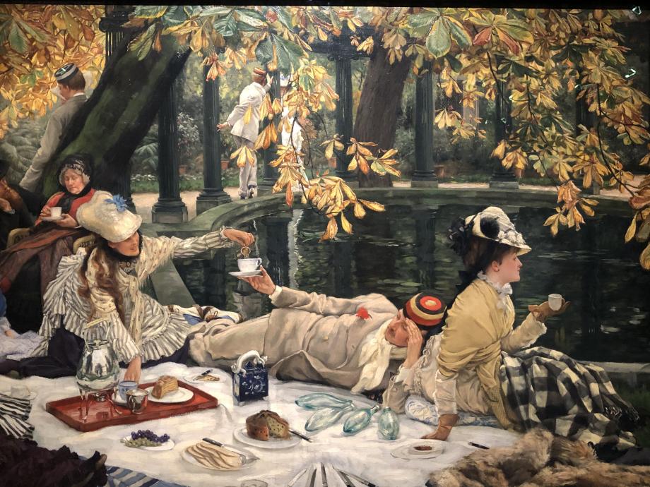 Holyday 1876 Londres, Tate  Le décor est celui du jardin londonien de Tissot