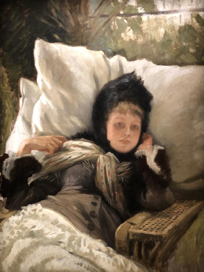 Kathleen Newton dans un fauteuil vers 1881 1882 Gray, Musée Baron Martin