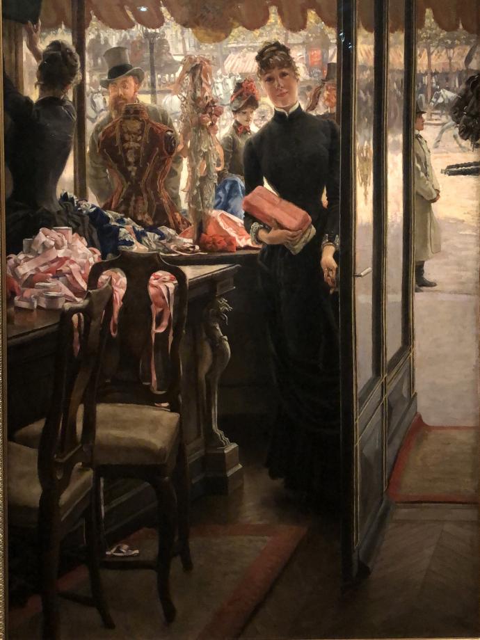 La demoiselle du magasin vers 1883 1885 Toronto, collection Art Gallery of Ontario