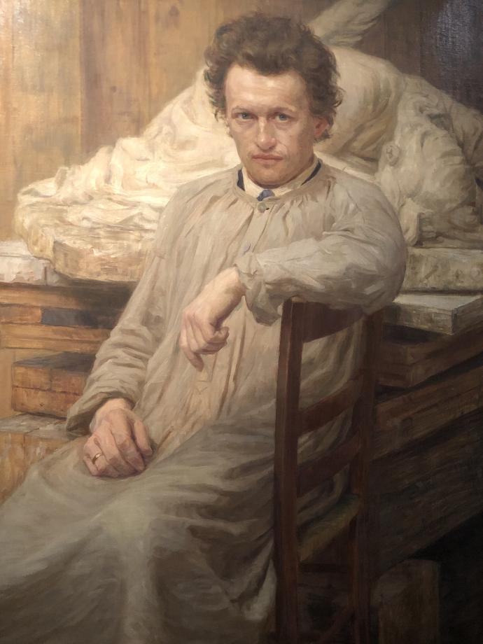 Axel HOU Portrait du sculpteur Niels Hansen Jacobsen