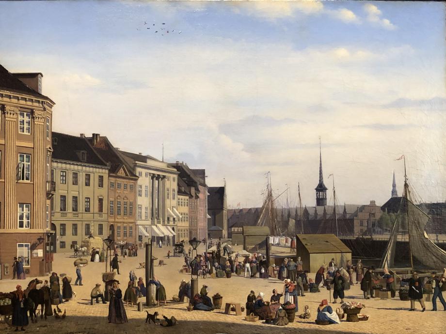 Sally Henriques Højbro Plades, place du marché à Copenhague (1844)