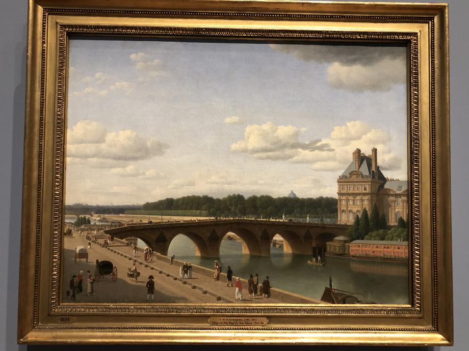 Christoffer Wilhelm Eckersberg Vue du Pont Royal, Paris 1812