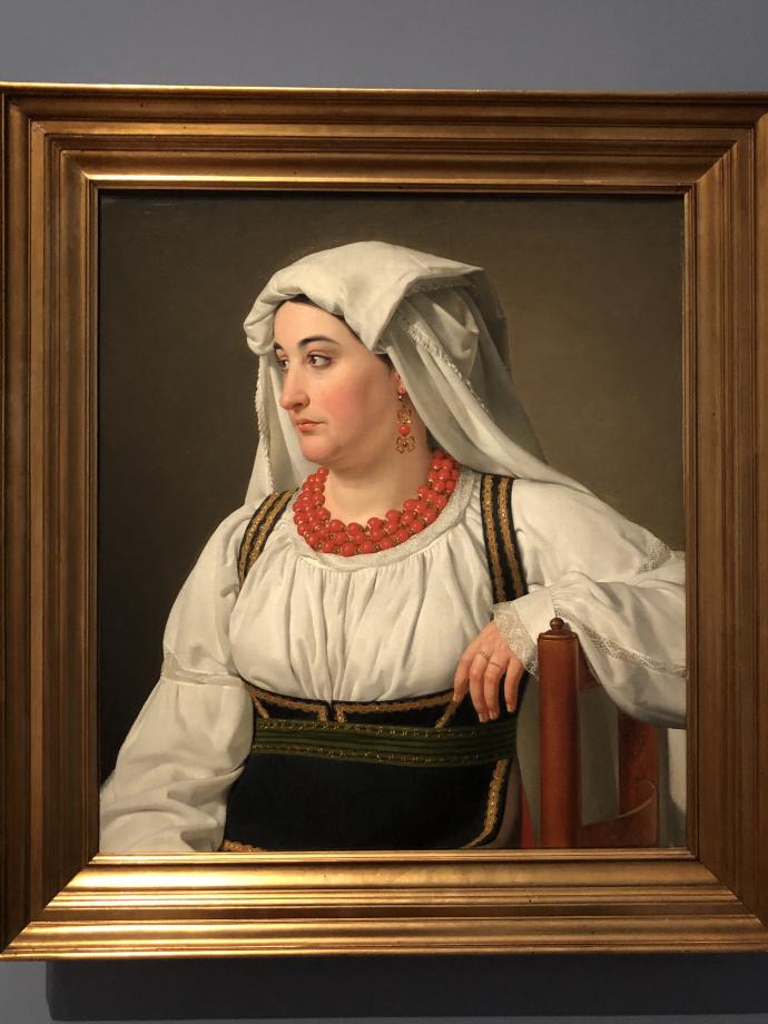 Christoffer Wilhelm Eckersberg Una Ciociara, portrait d'une paysanne de la campagne romaine 1816