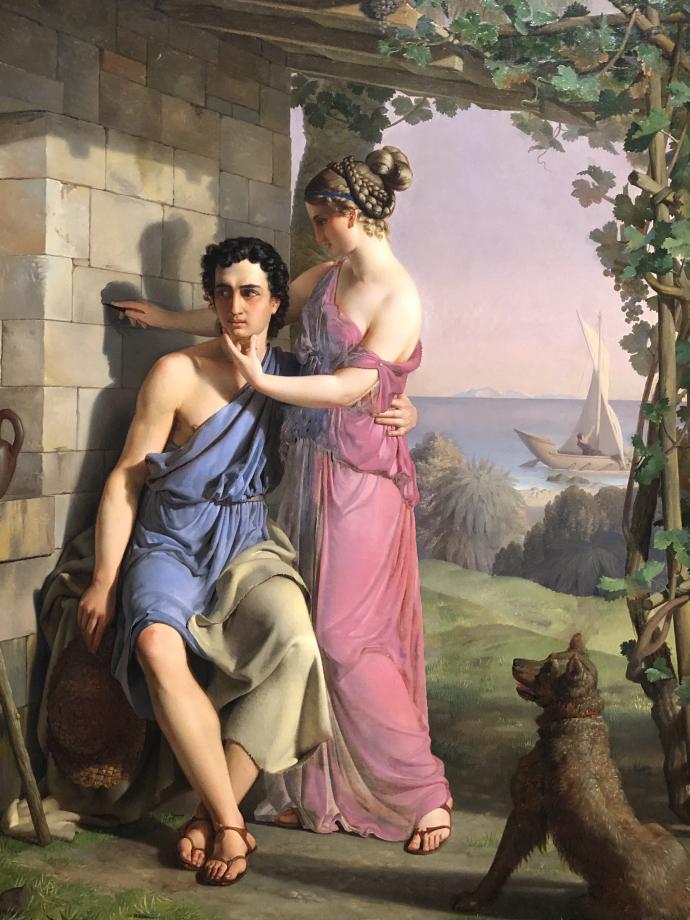 Heinrich Eddelien L'origine de la peinture 1831