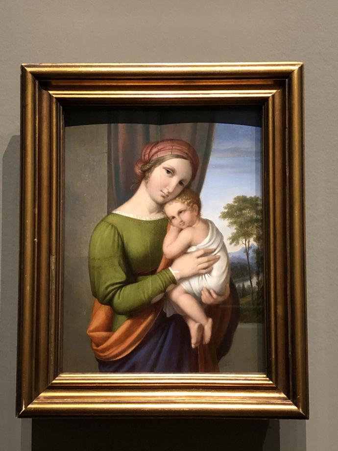 Johan Ludvig Lund La Vierge et l'Enfant 1820