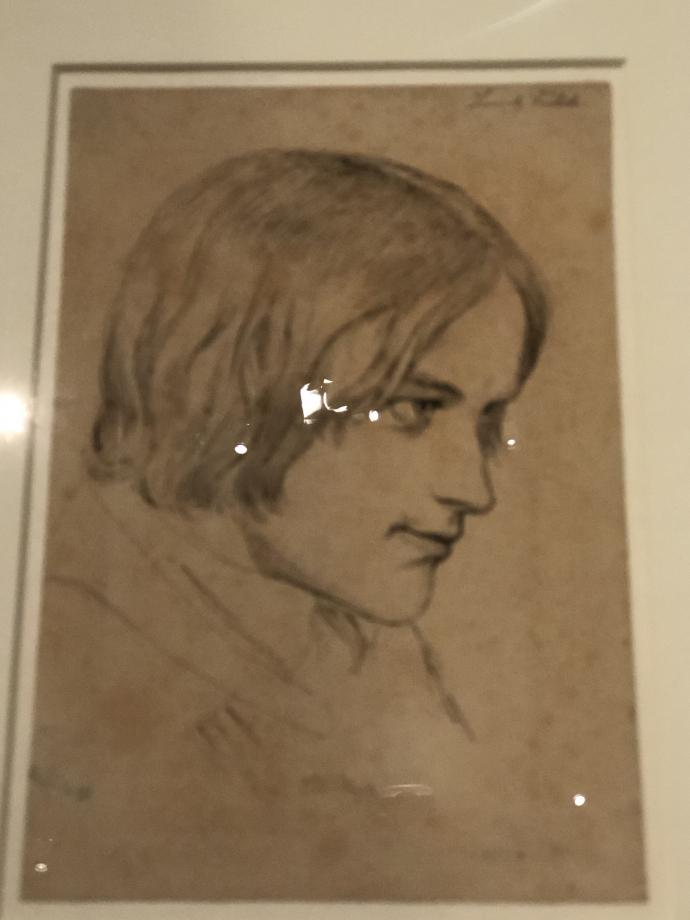 Johan Thomas Lundbye Portrait du peintre Lorenz Frølich 1837 1840