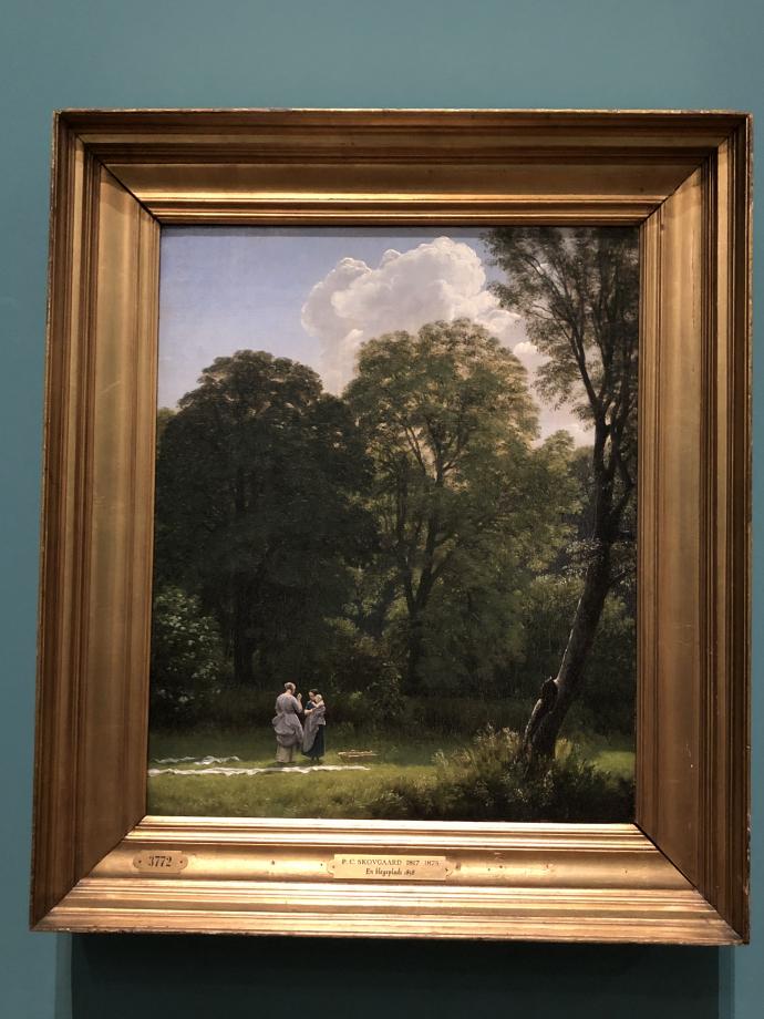 Peter Christian Skovgaard Le blanchiment du lin dans une clairière 1858