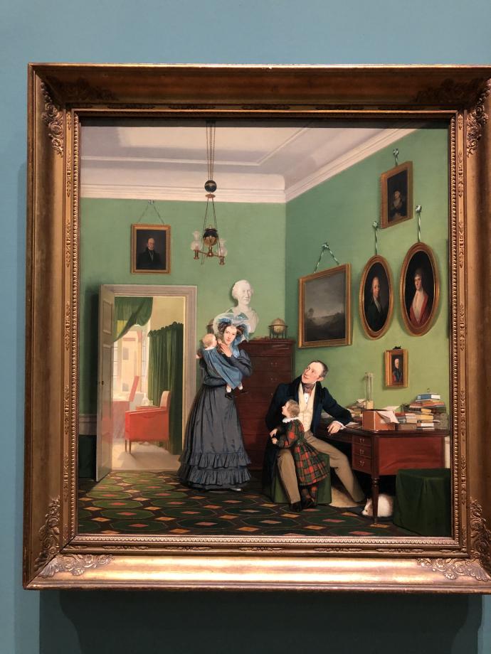 Wilhelm Bendz La famille Waagepetersen 1830