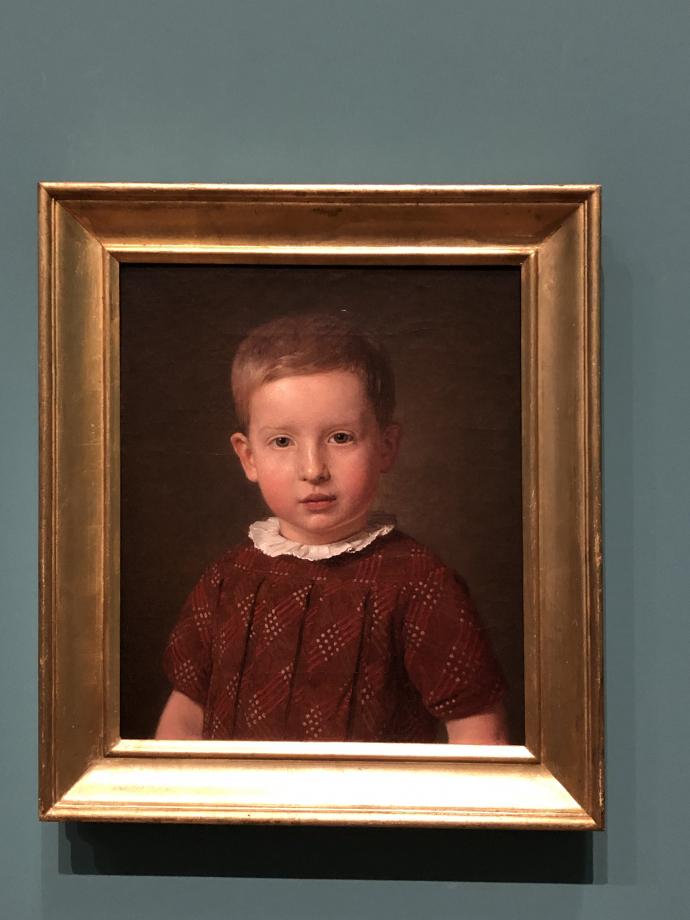 Chrstian Købke Johan Jacob Krohn, neveu de l'artiste, enfant 1846