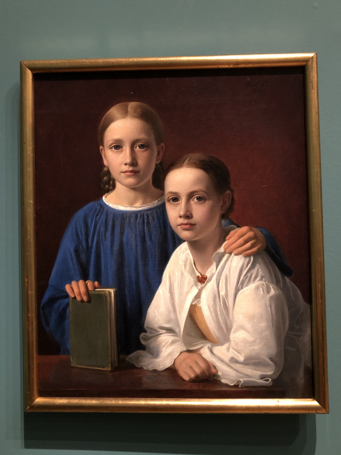 Constantin Hansen Meta Magdalene Hammerich et Kristiane Hansen, la fille du peintre 1861