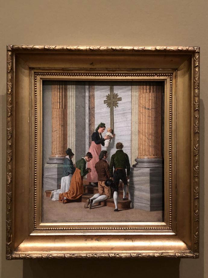 Christoffer Wilhelm Eckersberg Prière devant la Porte Sainte de la Basilique Saint-Pierre vers 1814