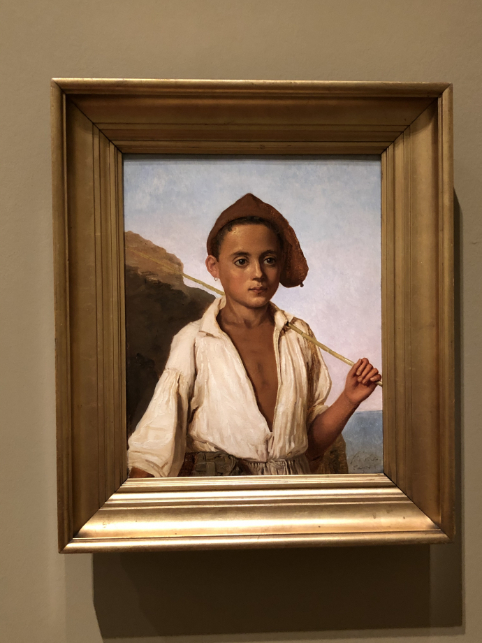 Christian Købke Un jeune pêcheur à Capri vers 1839