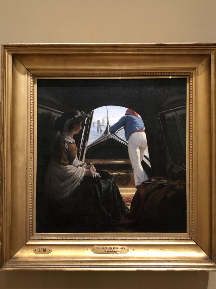 Julius Exner Une gondole 1859