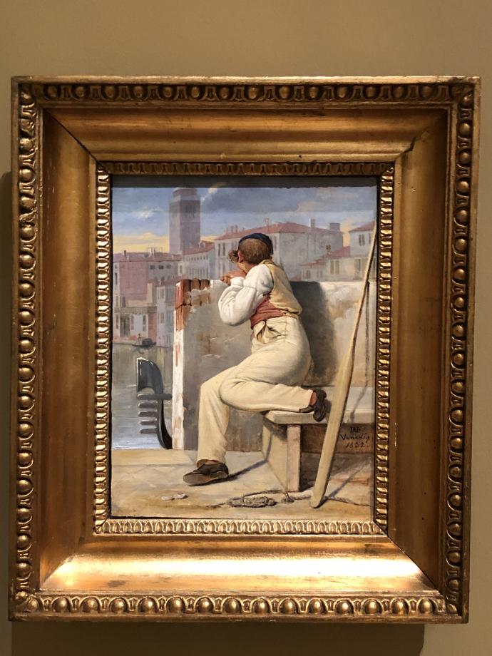 Ditlev Blunck Un gondolier à Venise 1832