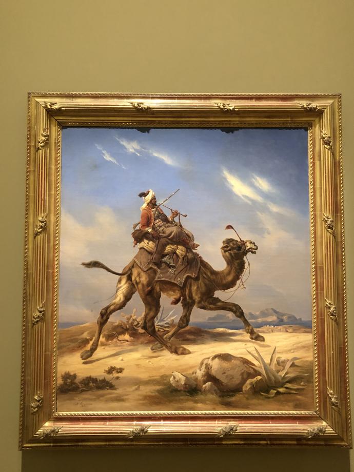 Niels Simonsen Un coursier arabe à dos de dromadaire 1855