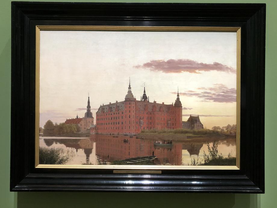 Christen Købke Le Château de Frederiksborg vu de Jæggerbakken, le soir 1835