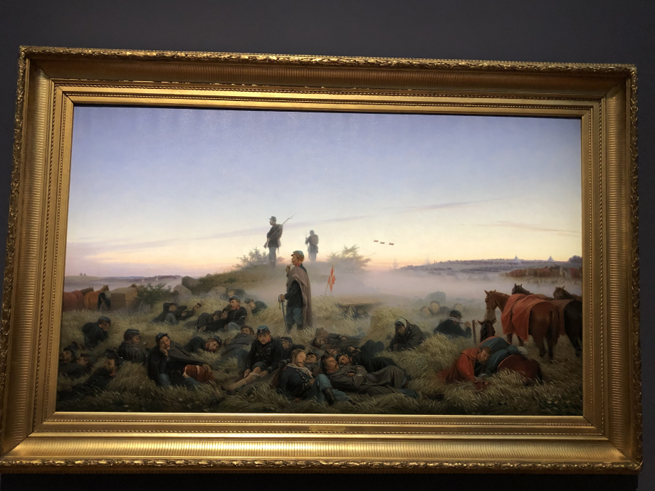 Jørgen Sonne Le matin après la bataille d'Isted le 25 juillet 1850 1876