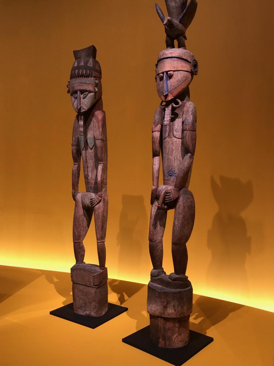 Figures féminine et masculine Fin du XIXè ou début du XXè siècle - Papouasie-Nouvelle-Guinée Linden Museum Stuttgart, Allemange