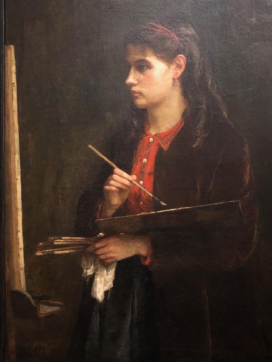 Edma Pontillon (c'est la soeur de Berthe) Berthe Morisot vers 1865  Collection particulière