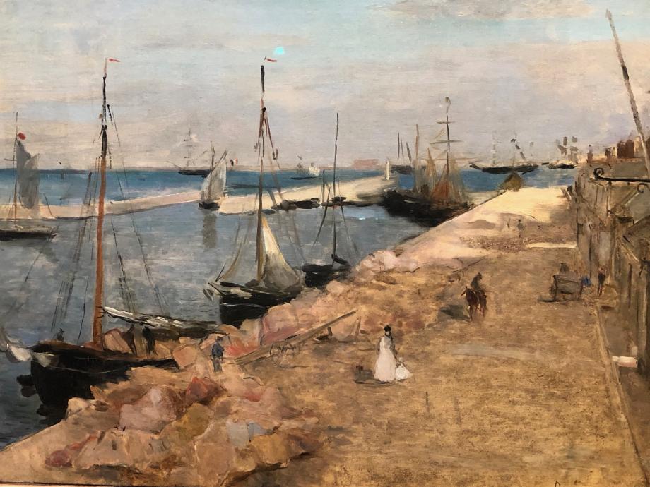 Marine dit aussi Le Port de Cherbourg - 1871 New Haven Yale University Art Gallery