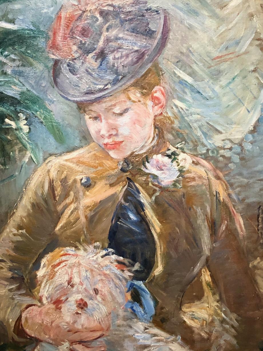 Jeune fille au chien - 1887 Collection particulière