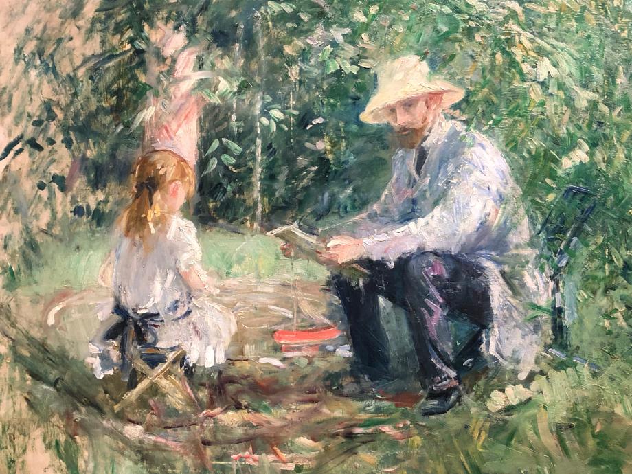 Monsieur Manet et sa fille - 1883 Collection particulière  il s'agit du mari et de la fille de Berthe