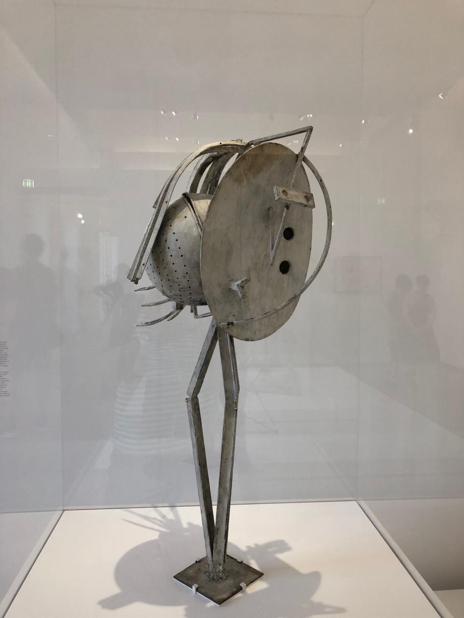 Picasso Tête de femme (fer, tôle, ressorts et passoires peints) 1929 1930 Musée National Picasso Paris