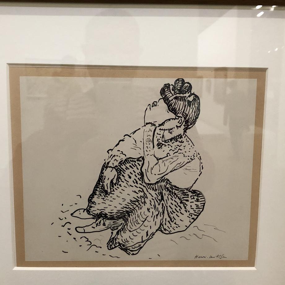Madame Matisse assise, 1905 Centre Pompidou