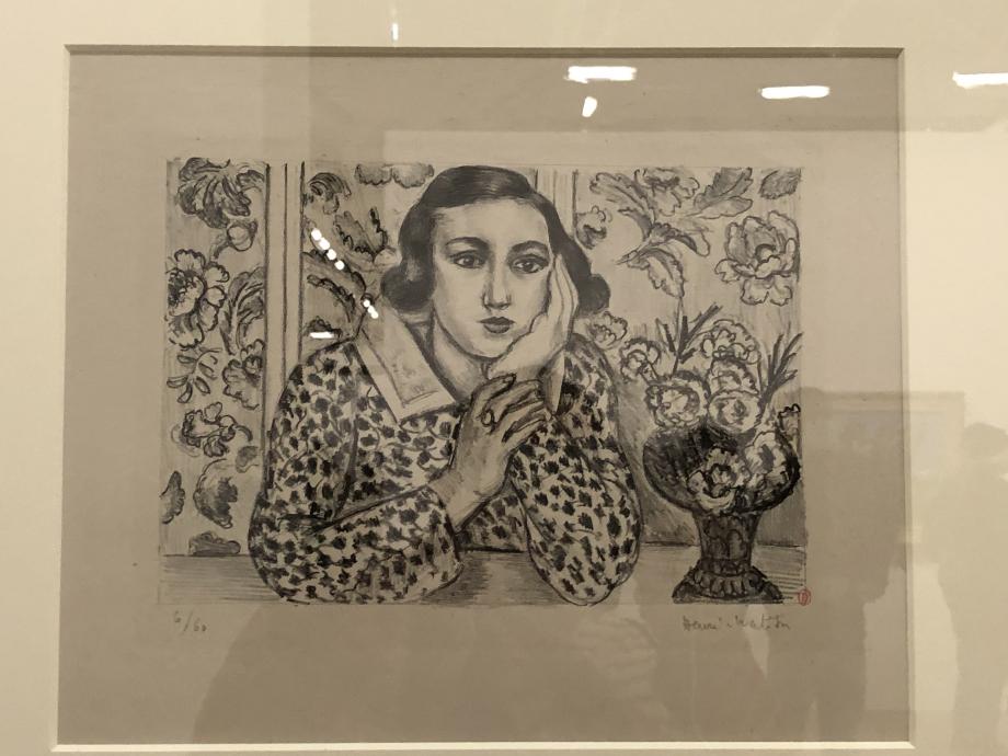 Jeune fille accoudée au paravent fleuri, 1923 Bibliothèque de l'Institut national d'histoire de l'art