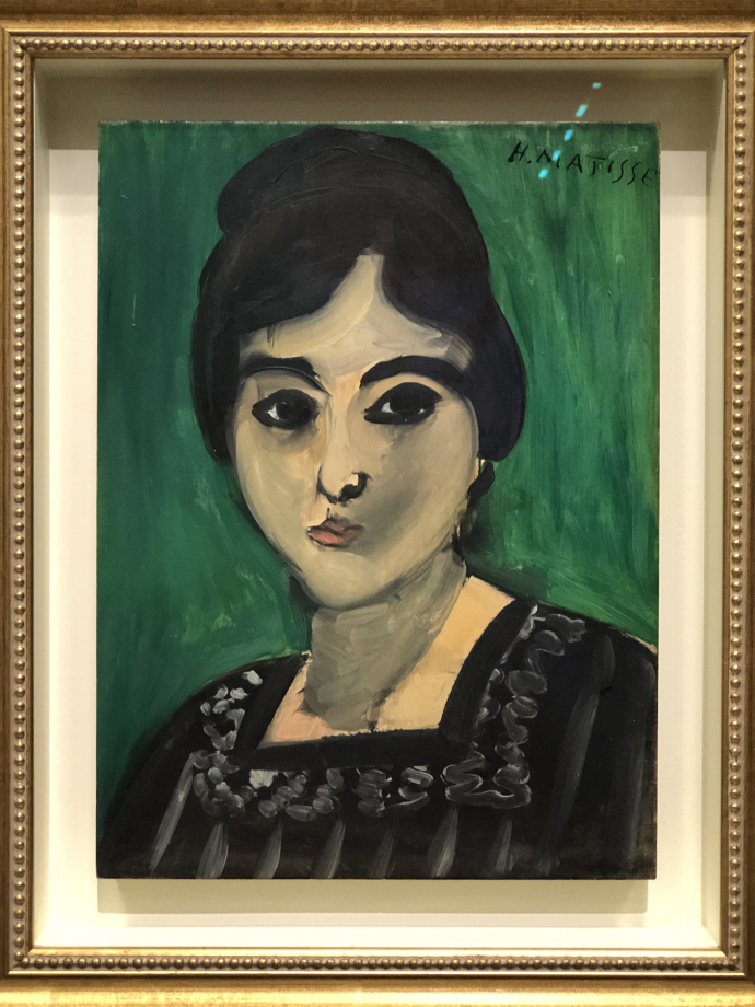 Tête de Lorette sur fond vert, Paris 1916 Musée Matisse, Nice