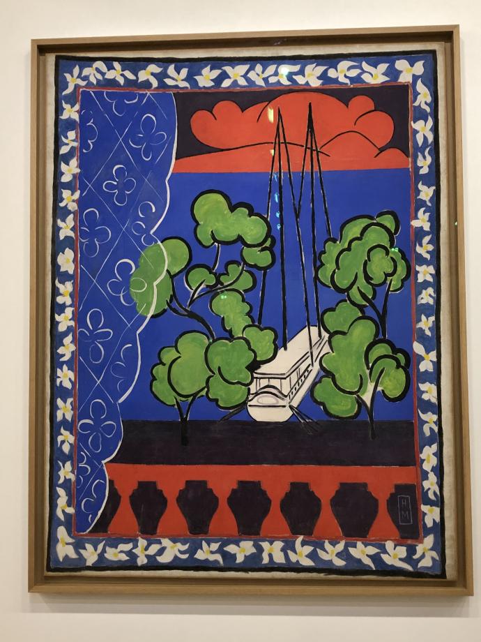 Fenêtre à Tahiti (Tahiti II) fin 1935-1936 Musée départemental Matisse, Le Câteau-Cambrésis