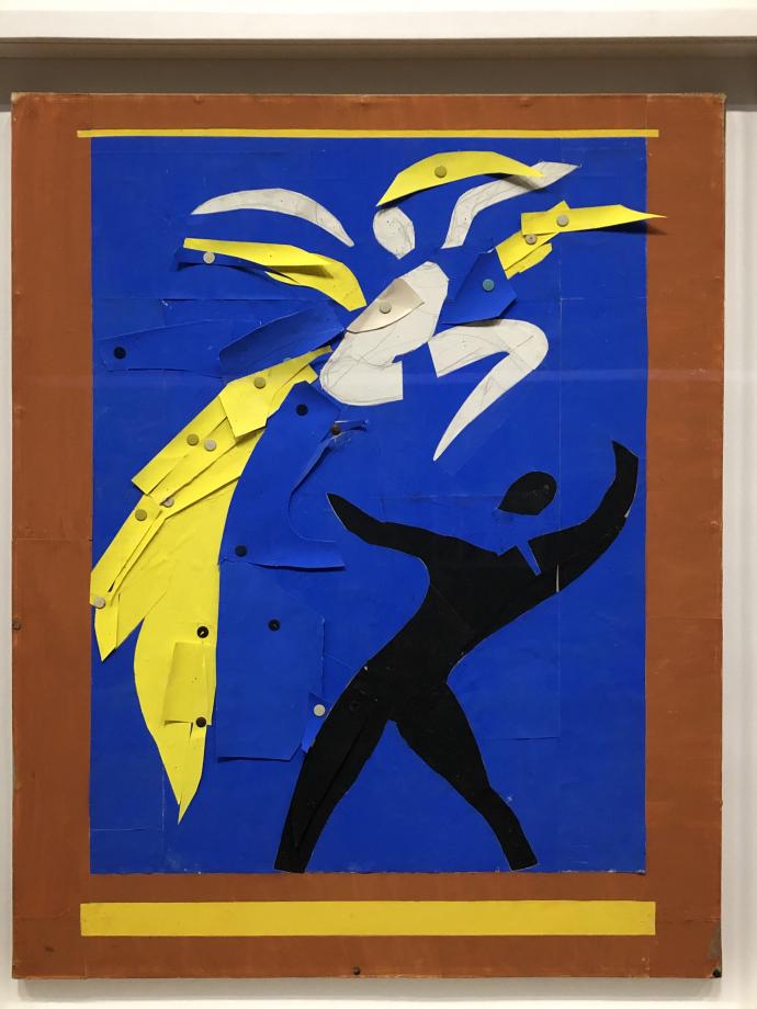 Deux danseurs (projet pour le rideau de scène du ballet Rouge et noir) 1937 1938 Centre Pompidou
