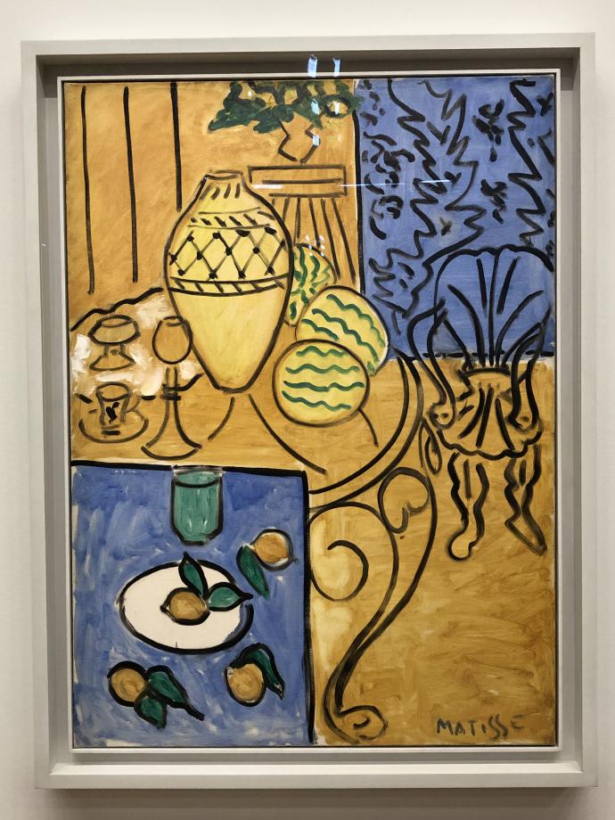 Intérieur jaune et bleu, 1946 Centre Pompidou