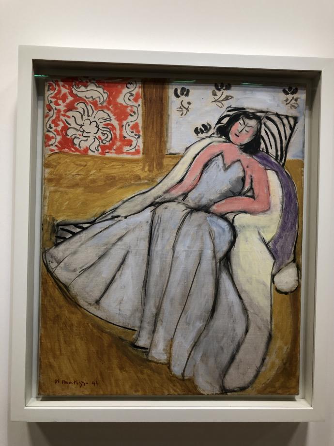 Jeune femme à la pelisse blanche 1944 Centre Pompidou