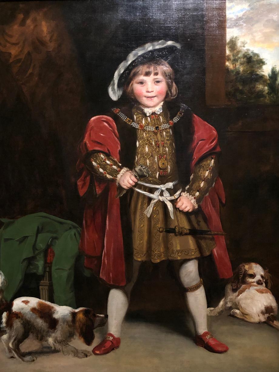 Joshua Reynolds Master Crewe en Henry VIII vers 1775 Il s'agit du frère de la petite fille du tableau précédent Londres, Tate