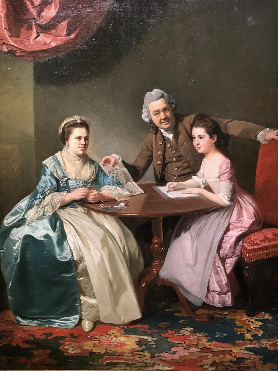 Johan Zoffany Mr et Mrs Dalton avec leur nièce Mary de Heulle vers 1765 1768 Londres, Tate il s'agit d'un