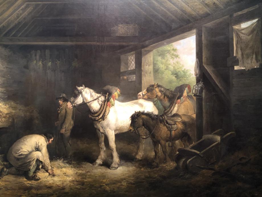 George Morland Intérieur d'une écurie 1791 Londres, Tate