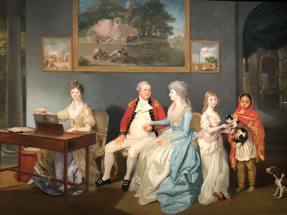 Johan Zoffany Le Colonel Blair avec sa famille et une servante indienne 1786 Londres, Tate