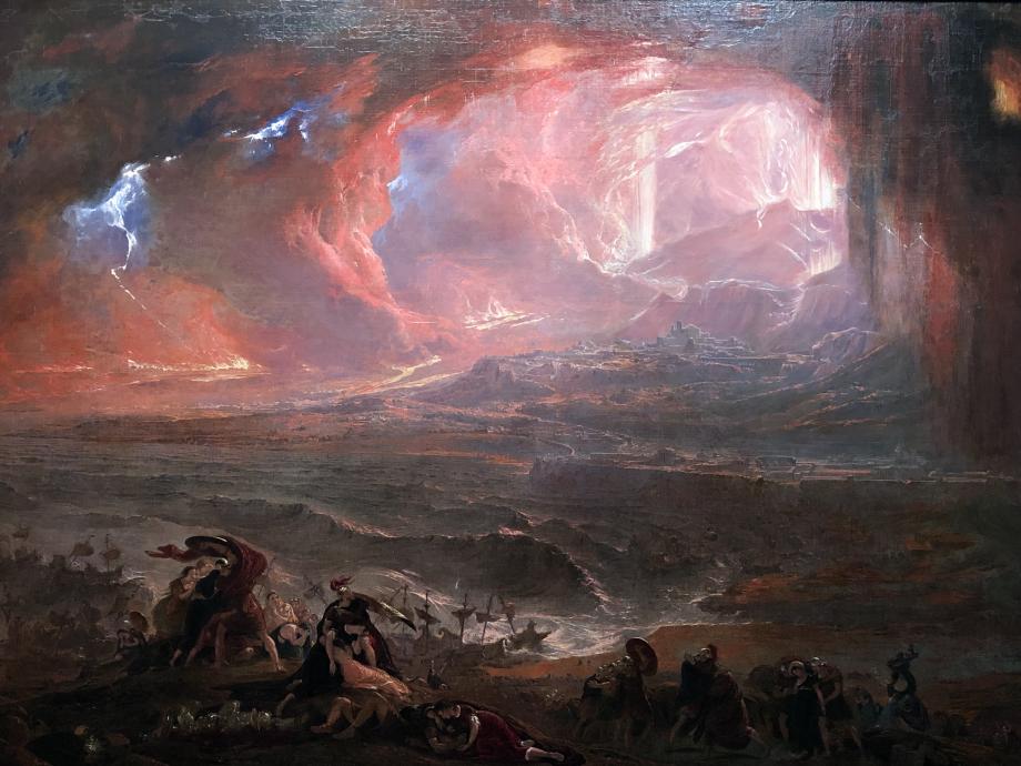 John Martin La Destruction de Pompéï et d'Herculanum 1822 Londres, Tate