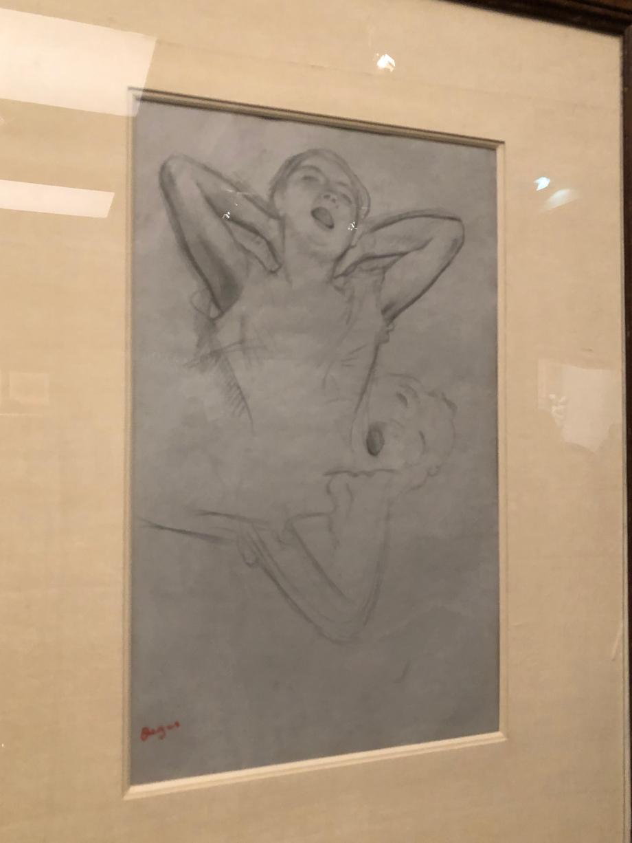 Etude de danseuse (étude pour une figure de Répétition de ballet sur scène) 1874 Collection particulière