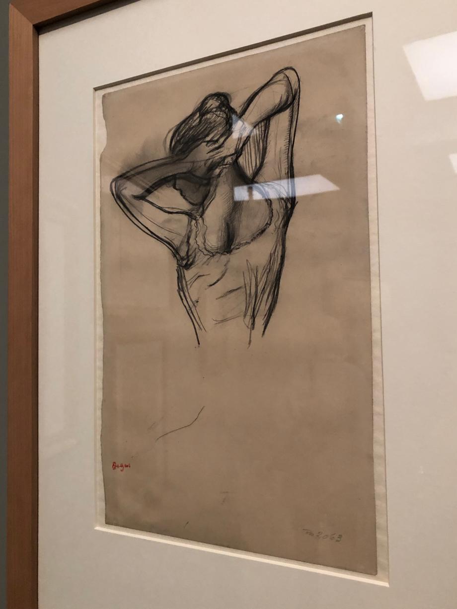 Danseuse, à mi-corps, les bras croisés derrière la tête vers 1890 Copenhague, Statens Museum for Kunst