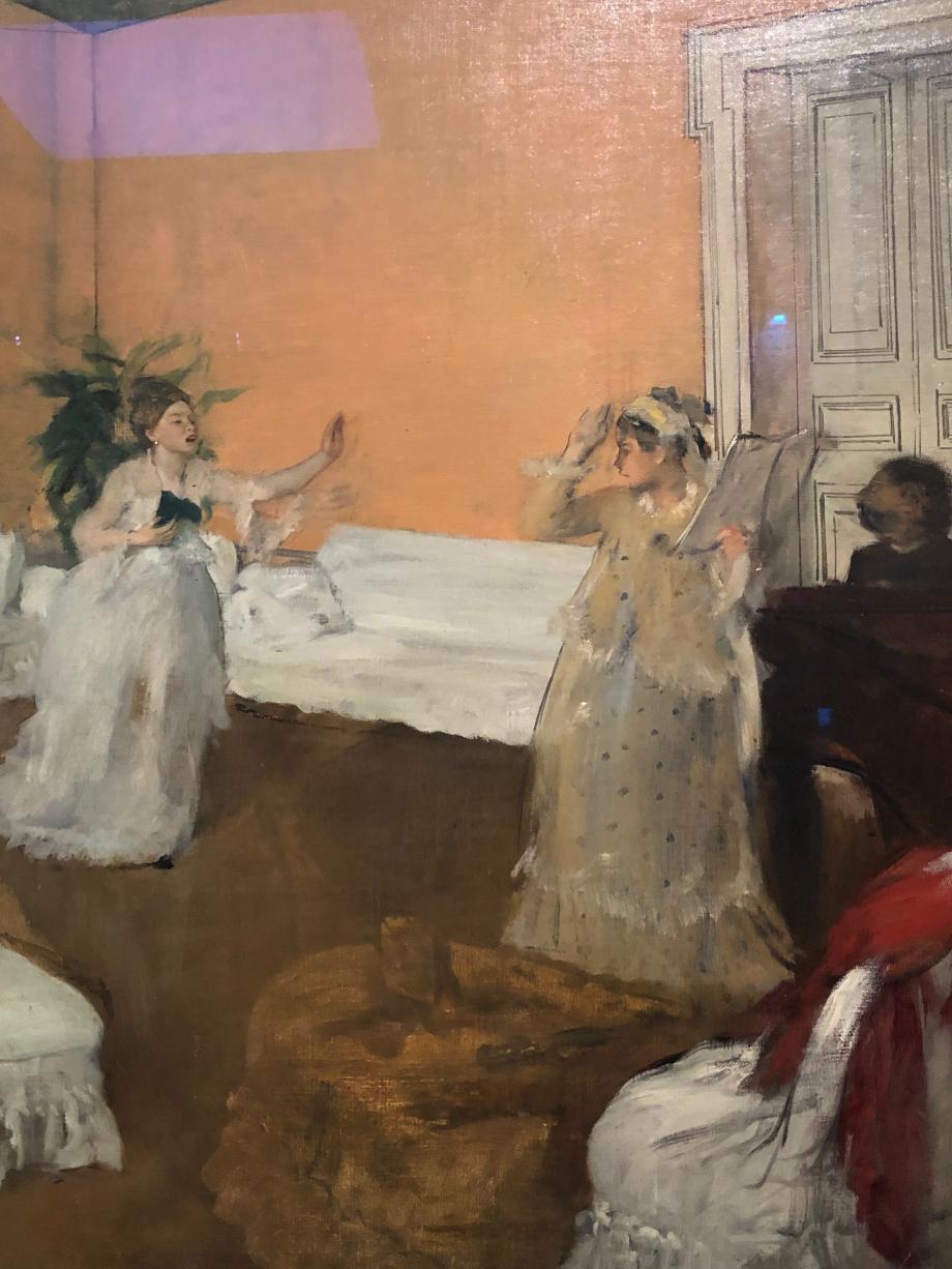 La Répétition de chant vers 1869 Washington, House Collection, Dumbarton, Oaks La jeune file en robe jaune, debout contre le piano, est probablement Marguerite, la soeur du peintre.