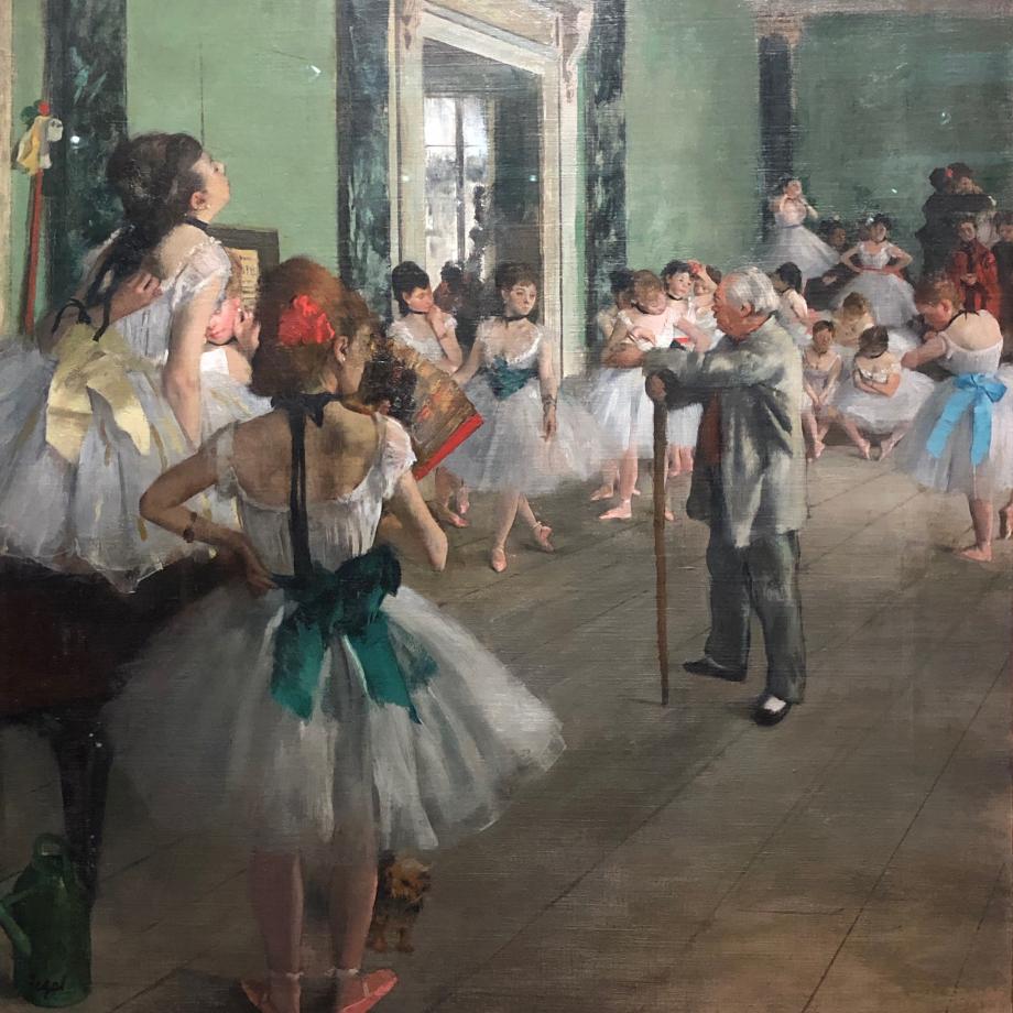 La classe de danse commencé en 1873 achevé en 1875 1876 Paris, Musée d'Orsay