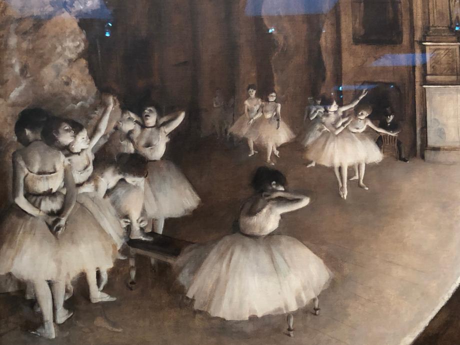 Répétition de ballet sur la scène 1874 Paris, Musée d'Orsay