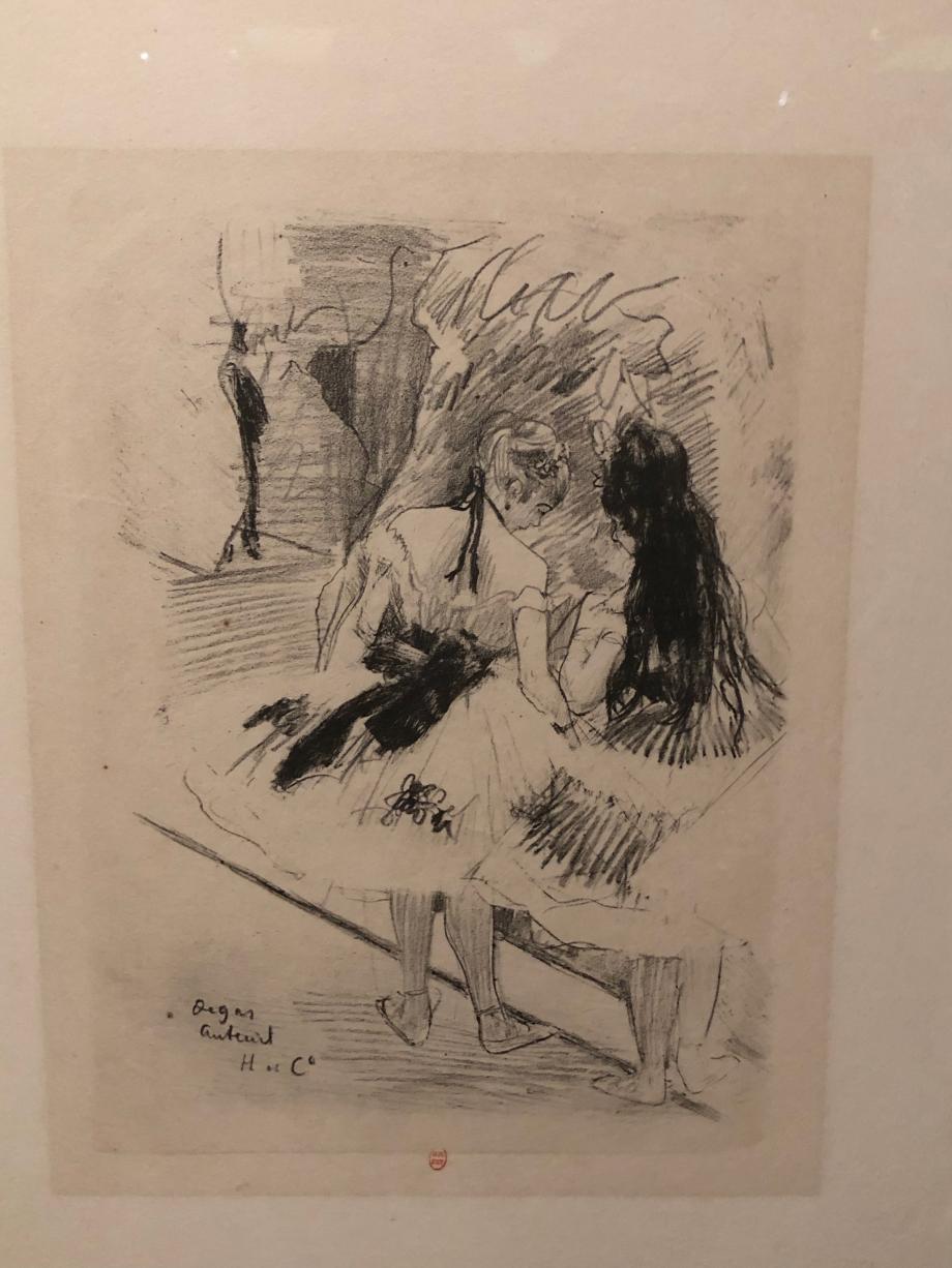 Dans la coulisse 1878 1880 Crayon lithographique sur papier velin (état unique) Paris, BNF